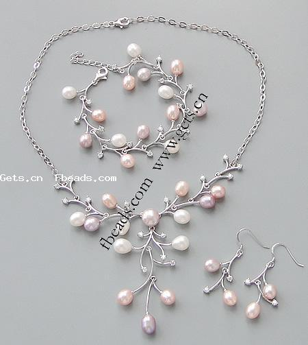 925 Sterling Silver Freshwater Pearl Jewelry Sets