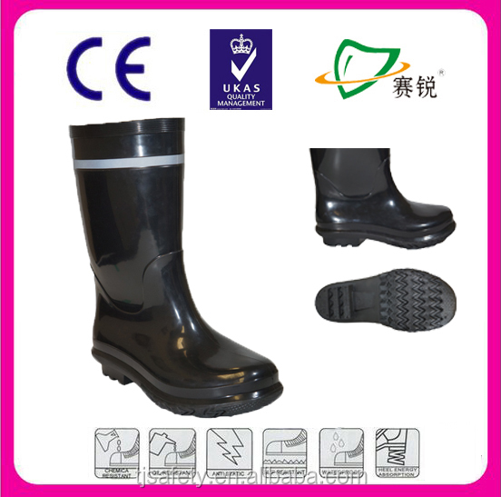 safety boots factory cheap PVC rain boots