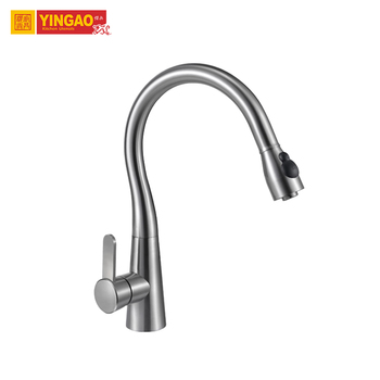 Good Contemporary CUPC Certificate Single Handle Single Hole Brushed Water Italian Kitchen Faucets