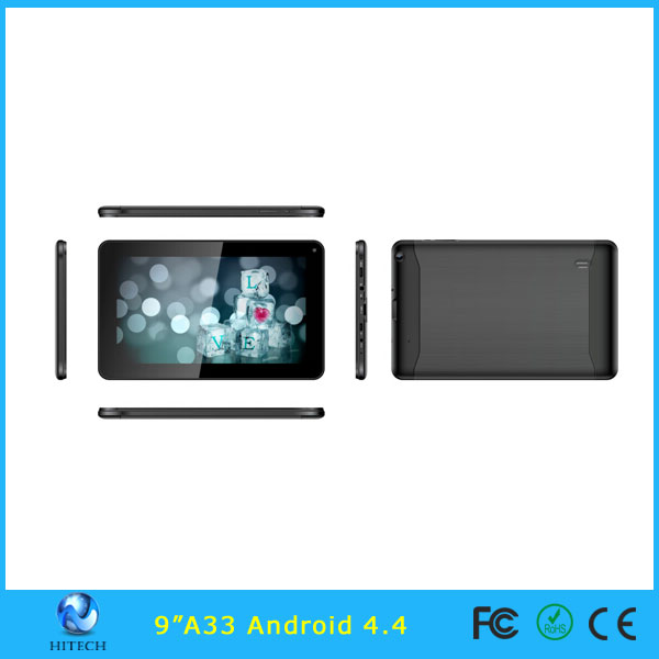 "9 inch Allwinner A33 Tablet PC Quad Core Android 4.4 9"" A33 MID"