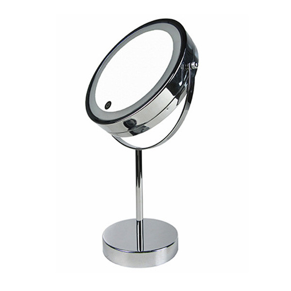 New round double sided LED light touch sensor switch desketop makeup mirror