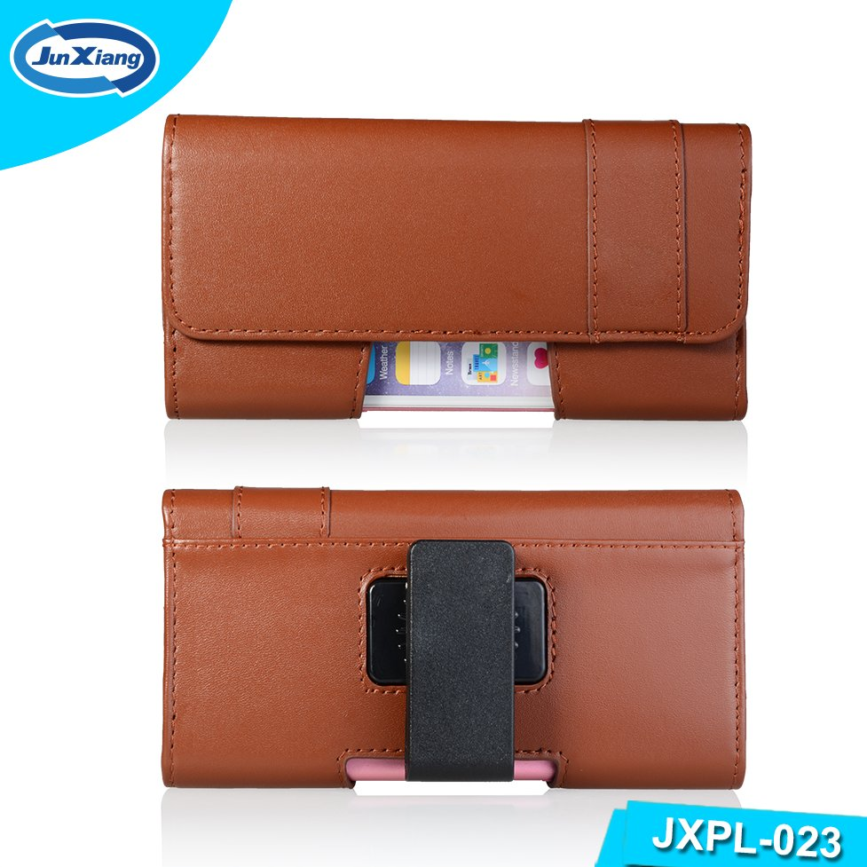 High Quality Universa PU Leather Mobile Phone Flip case cover pouch with swivel belt clip for iphone and for samsung