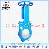 paper making handwheel Knife Gate Valve QBZ73X-10C-DN50
