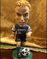 Customize design mini soccer player bobble head/football club star action figure/OEM Plastic BOOBBLE HEAD toys