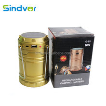 Solar Power Portable Lantern Rechargeable Night Light Hiking Lamp Torch