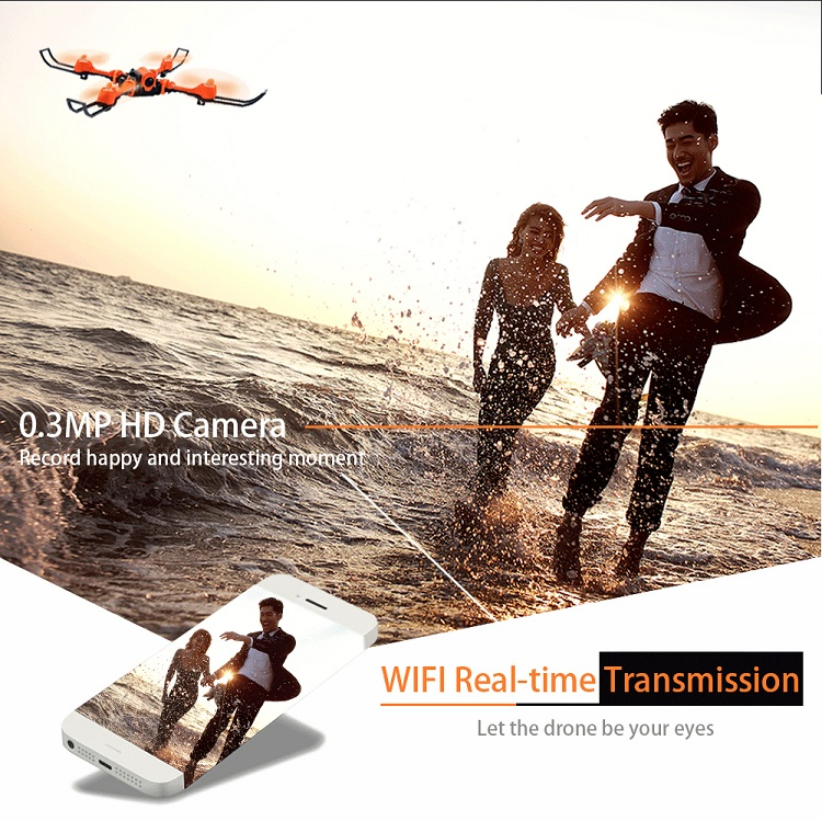 New style Flytec T15 rc flying drone 2.4G 4CH 3D foldable selfie drone with wifi camera drone