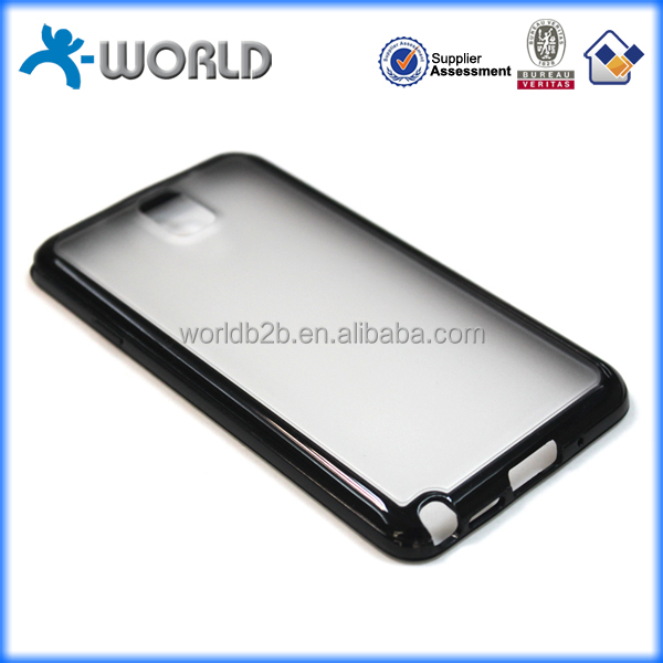 Classic fashion 2 in 1 waterproof new trendy plastic pc tpu case for samsung note 3