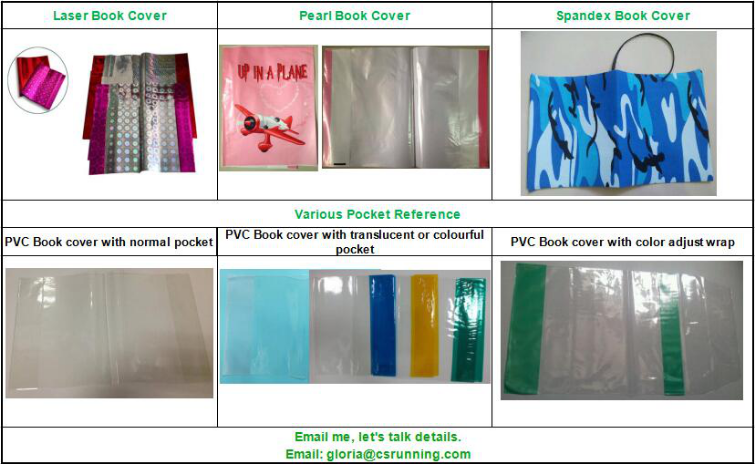 Eco friendly PP PVC clear self adhesive plastic book covers A4 A5 plastic cover notebook covers