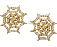 spider web Cobweb Gold Plated Earring Castings Gold Studs