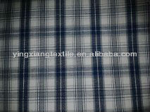 Poly/cotton combed yarn dyed/pigment printing/reactive check shirting fabric