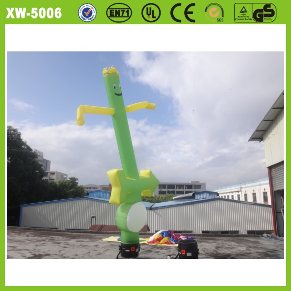 2014 durable 210d oxford cloth customized green sky dancer toy for advertising