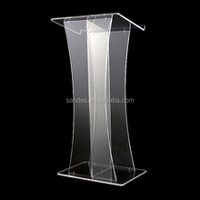 Cheap Acrylic Podium Clear Plastic Modern Design Church Podium