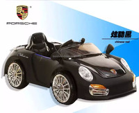 LED lights baby racing car/ child ride on car pure black color
