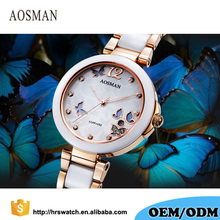 2017 quartz movement 316L stainless steel lady ceramic watch women