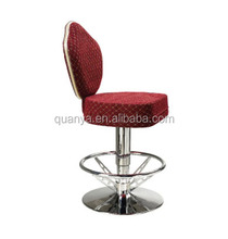 Red Covered fabric seat Gaming casino bar chairs