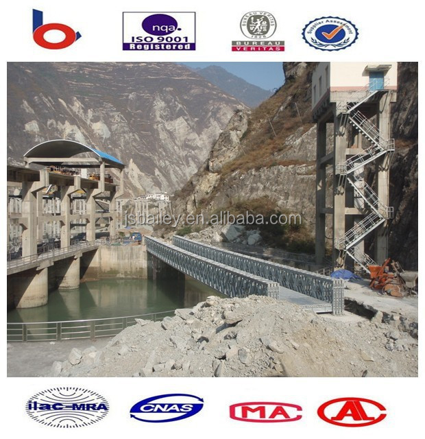 Single lane bailey bridges HD200, reinforced Steel galvanized for vehicles passing
