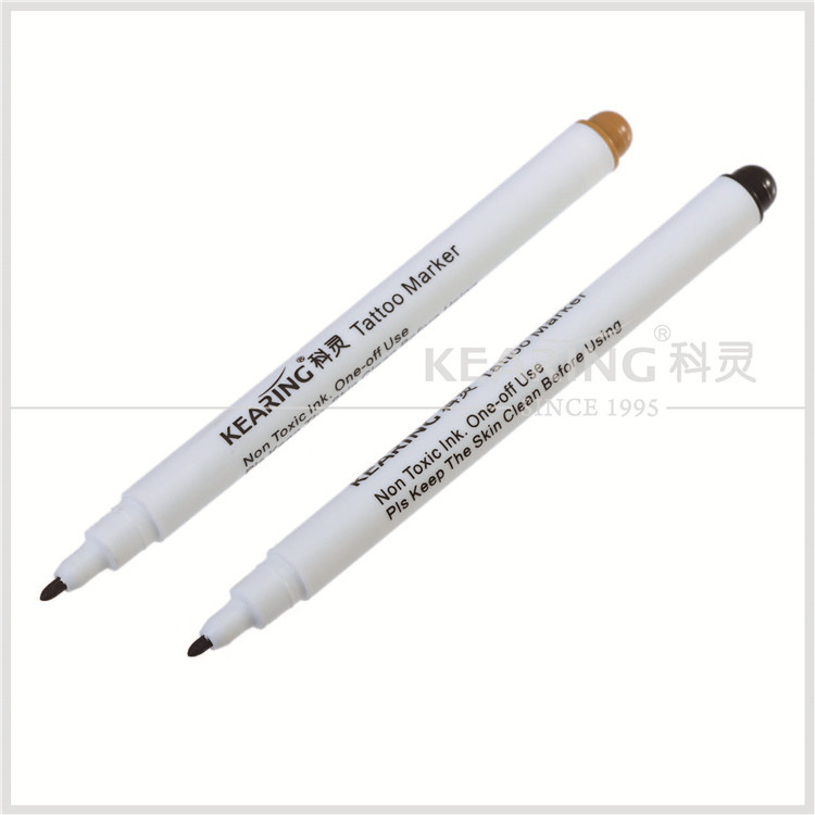 One off usage violet color surgical skin marker with fibre tip for short time marking on body skin