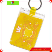 clear waterproof punch vertical badge id card holder