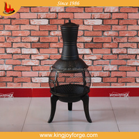 Patio garden iron wood burning fireplace chimeneas chiminea