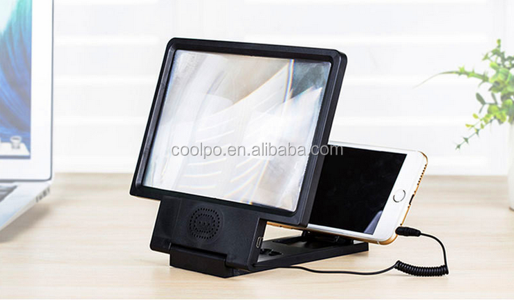 Hot 3D Movie Foldable Mobile Phone Enlarge Screen Magnifier with speaker