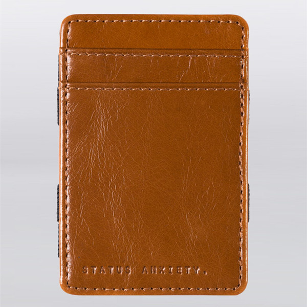 Bifold stitched promotion leather magic wallet, custom wallet