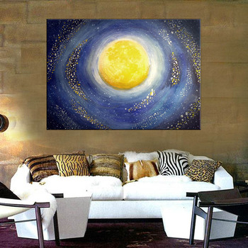 Universe Canvas Printing Modern Starry Sky Painting On Art Abstract Pictures Cuadros Abstractos 2018 Wall Poster For Home Decor