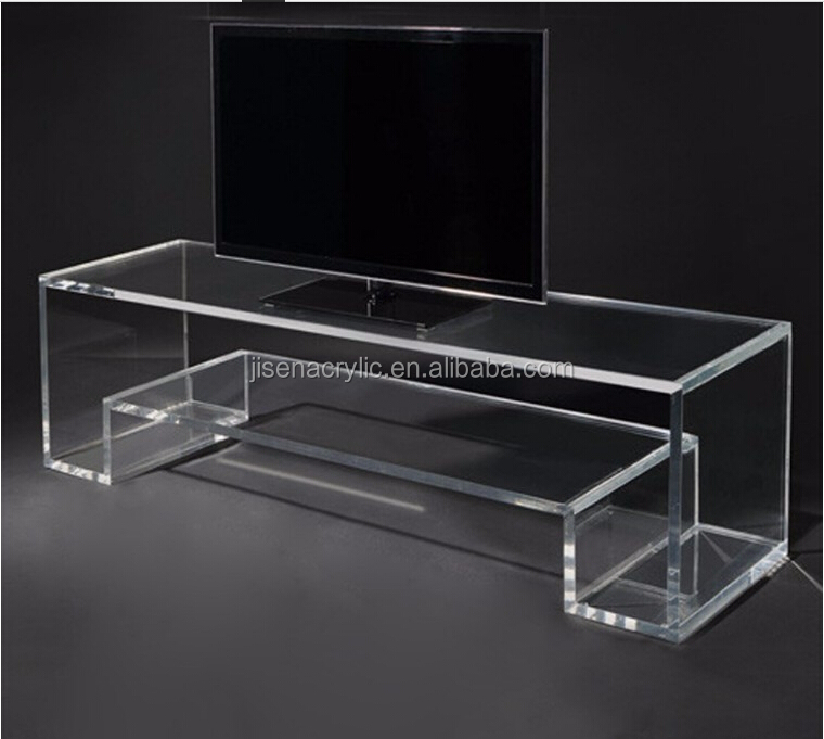 wholesale Clear Acrylic Computer TV Monitor Stand Table