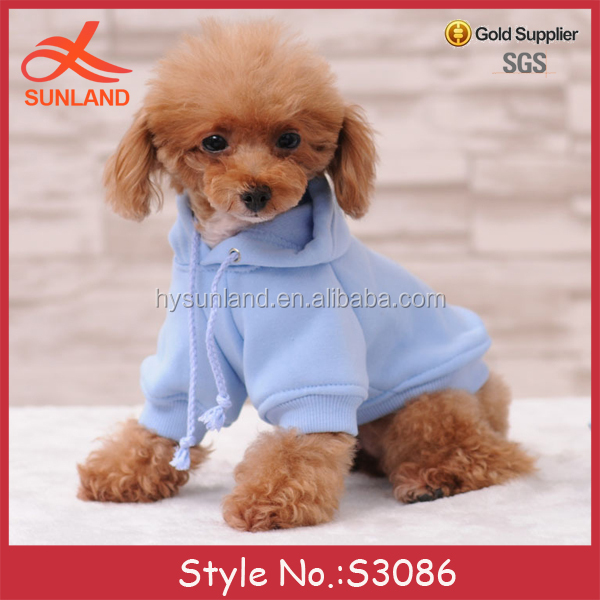 S3086 new trendy 2017 pet accessories cotton clothes wholesale dog hoodies from xs to 3xl