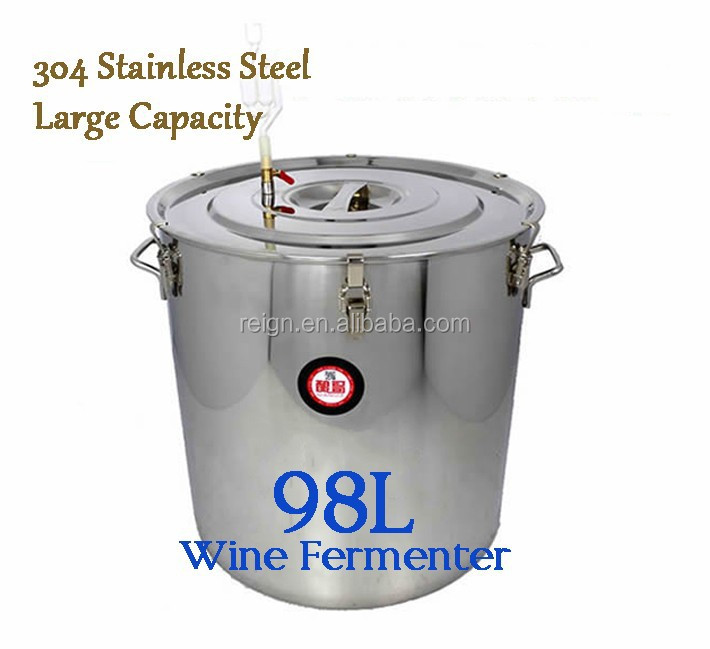 Large Capacity !98L Household 304 Stainless Steel Wine Fermenter Fermentation Tank For Vodka/Liquor/Wine/Beer