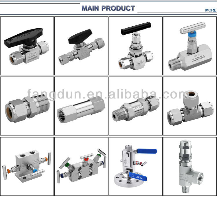 Compression tube fittings , tube connector fitting,Union tee, compression fitting, ferrule fitting