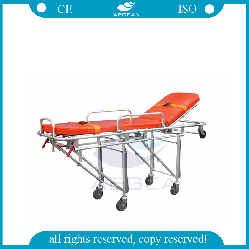 AG-4B6 OEM Hospital durable Aluminum Alloy ambulance stretcher