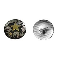 Silver Plated Double Star Western Belt Conchos