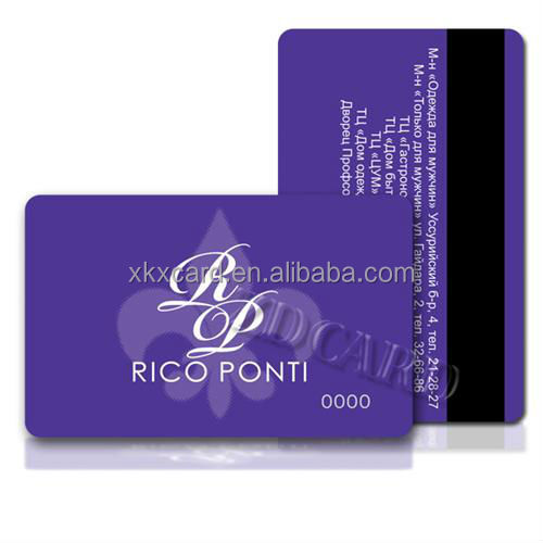 Plastic Printing Magnetic Strip Membership Business Card