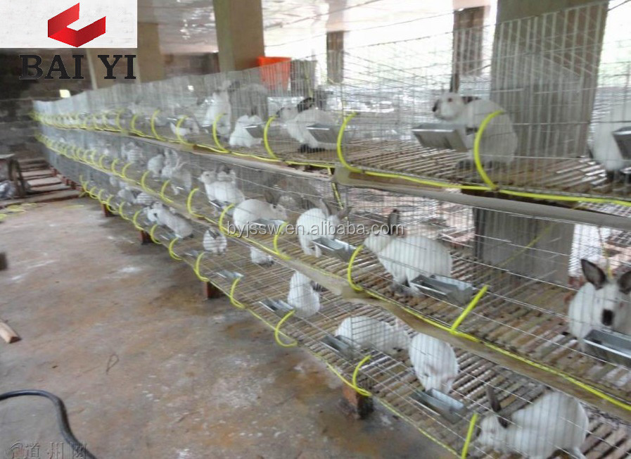 Factory Wholesale Double Floor Rabbit Cage for Kenya Farm