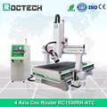 1530 Woodworking 4 axis cutting machine cnc router with rotary