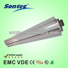 2*28W t5 fluorescent lighting fixture with cover lamp tube pl lighting fitting