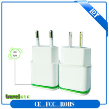 High quality dual port wall charger 2 usb port plugs travel charger