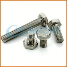 Standard size high quality stainless steel hexagon head bolts din931 hex head bolt hex bolt and nut