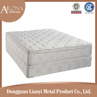 Deluxe high grade nature comfort double orthopedic rolled compressed Medium soft Spring mattress