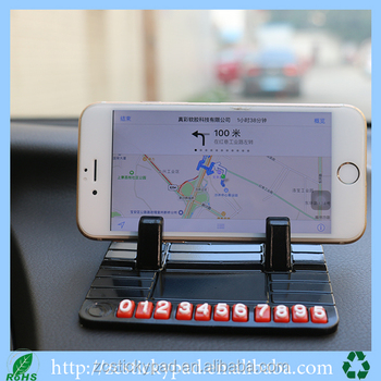 Reusable car phone mount cell phone dash holder with oem service
