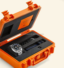 IP67 waterproof plastic watch carrying display case box with customized foam