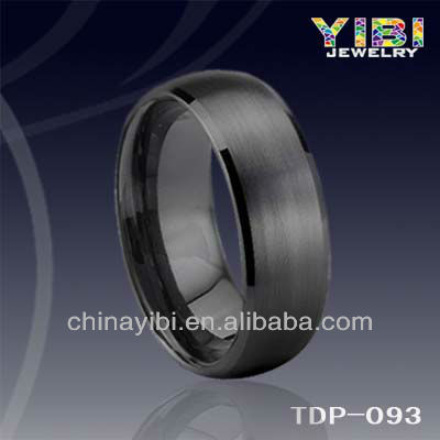 Black Plated Free Engrave Tungsten Ring Brushed best seller king and queen rings