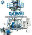 Shrink film extrusion machine with double winder and corona
