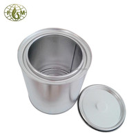 Metal tin can with triple tight lid
