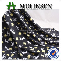 Mulinsen Textile Cat Printing Smooth Touch Garments Fabric Knit Polyester Fdy