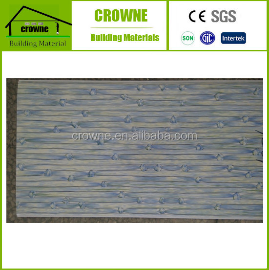 Modern design waterproof board for bathrooms wall decoration hot stampling finished pvc ceiling panel
