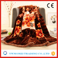 acrylic flower pattern super thick warm blanket