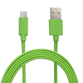 Custom Light Green 3.3FT 1M 5 Wires Micro USB 5 Pins to USB 2.0 Cable