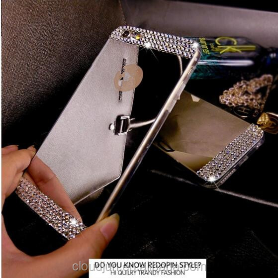 New 2017 hot sale, fashion phone case for iphone luxury case mirror