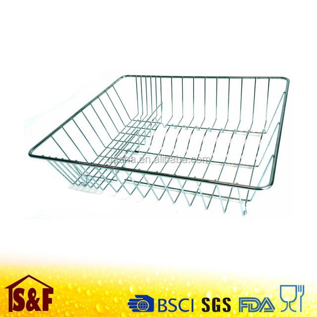 Wholesale Chrome Plated Wire Dish Drainer Rack